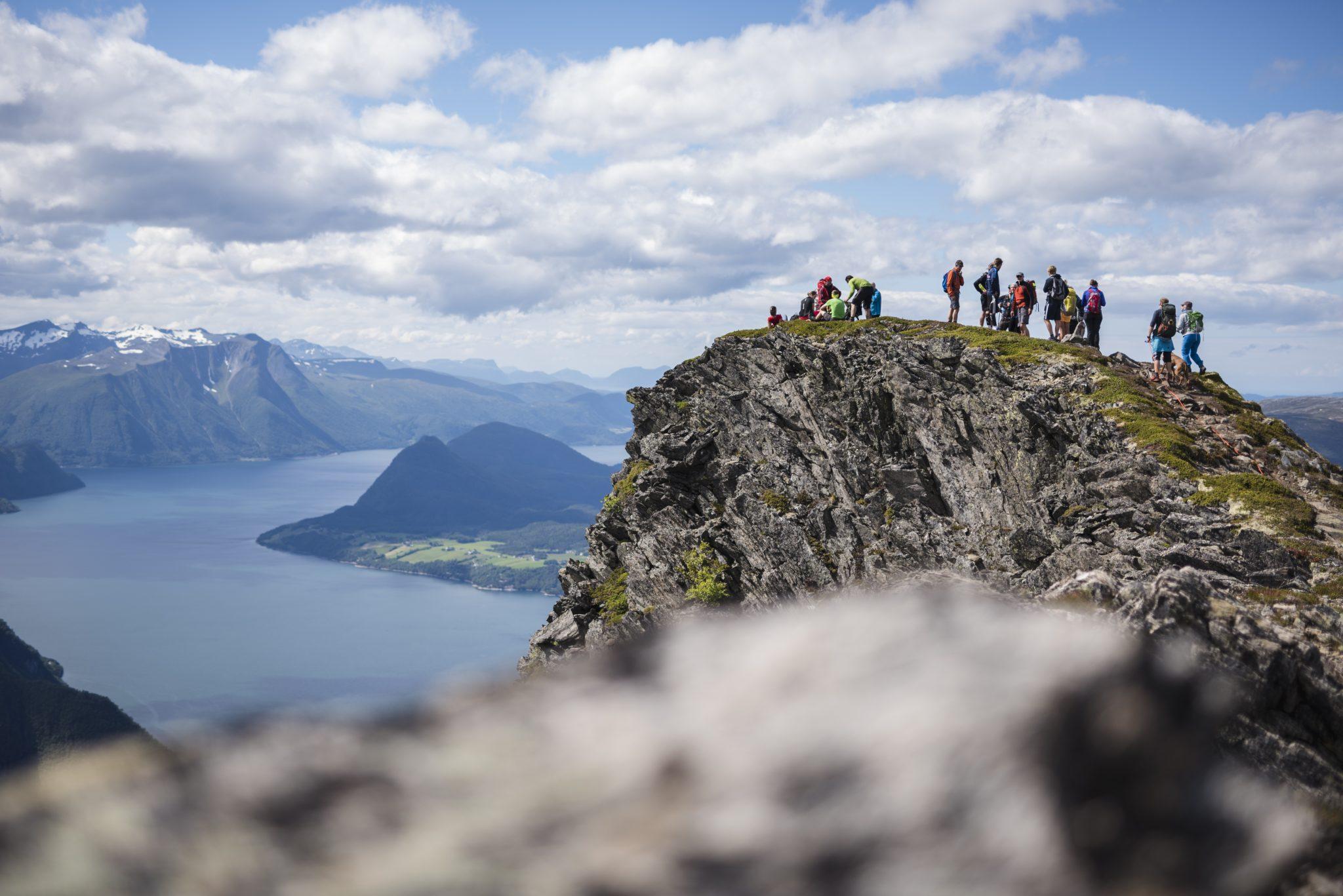 Romsdalseggen under Norsk Fjellfestival 2017. Foto: Tone Molnes