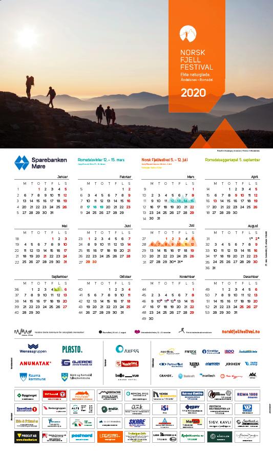 Norsk Fjellfestival kalender 2020